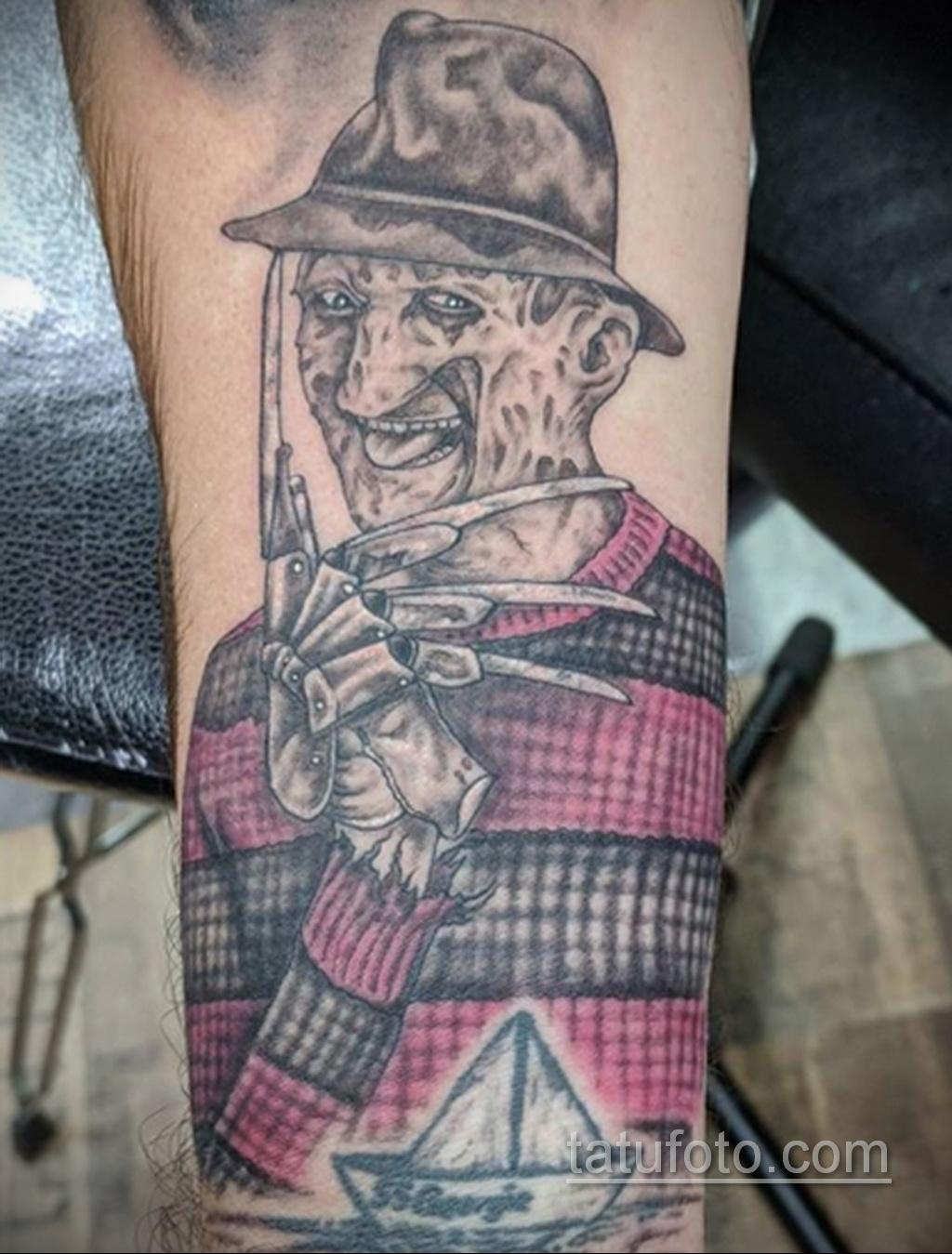 Фото тату с Фредди Крюгером 12.10.2020 №020 -freddy krueger tattoo- tatufoto.com