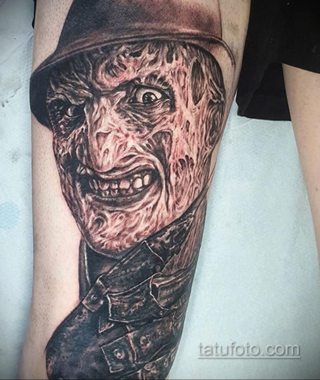 Фото тату с Фредди Крюгером 12.10.2020 №022 -freddy krueger tattoo- tatufoto.com