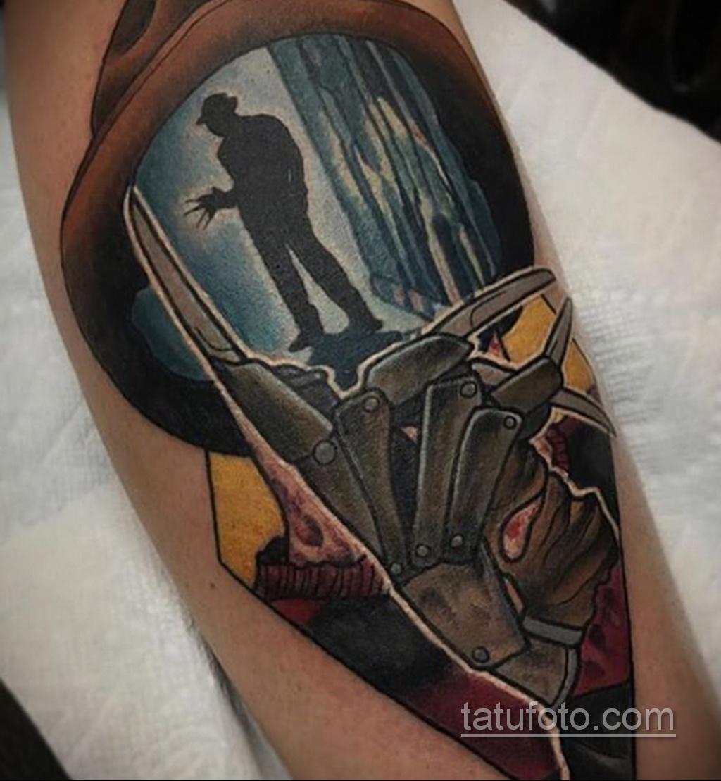 Фото тату с Фредди Крюгером 12.10.2020 №026 -freddy krueger tattoo- tatufoto.com