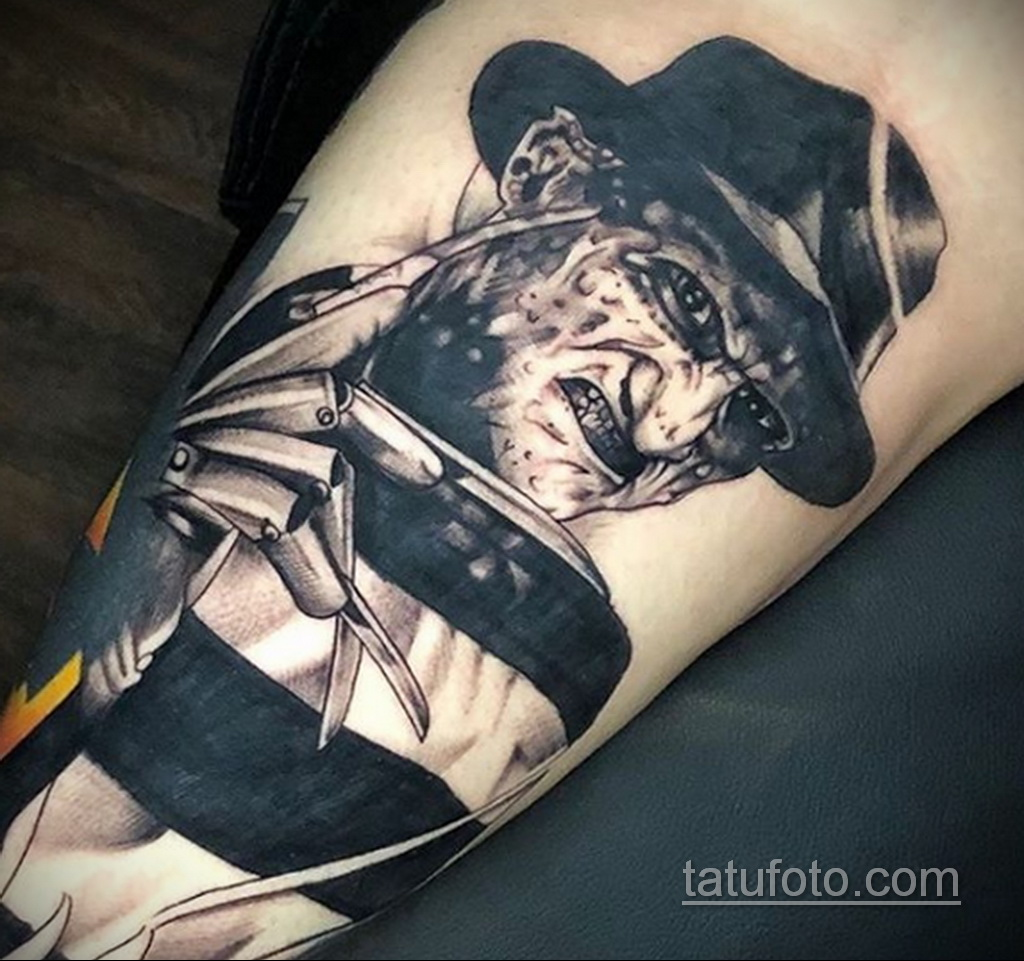Фото тату с Фредди Крюгером 12.10.2020 №027 -freddy krueger tattoo- tatufoto.com