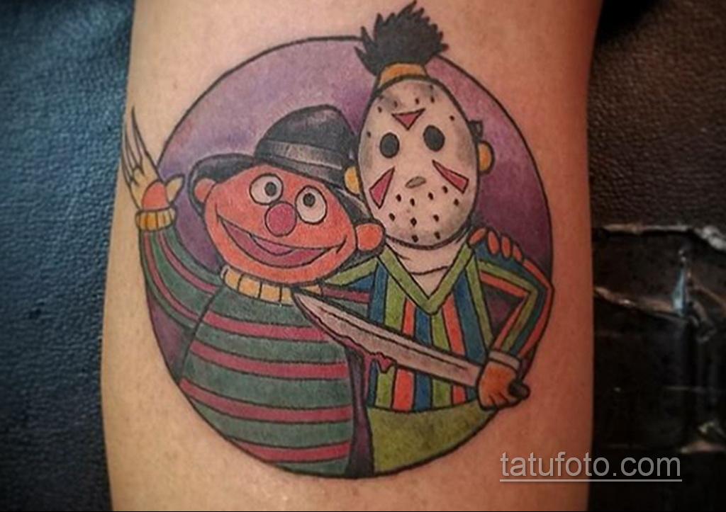 Фото тату с Фредди Крюгером 12.10.2020 №028 -freddy krueger tattoo- tatufoto.com