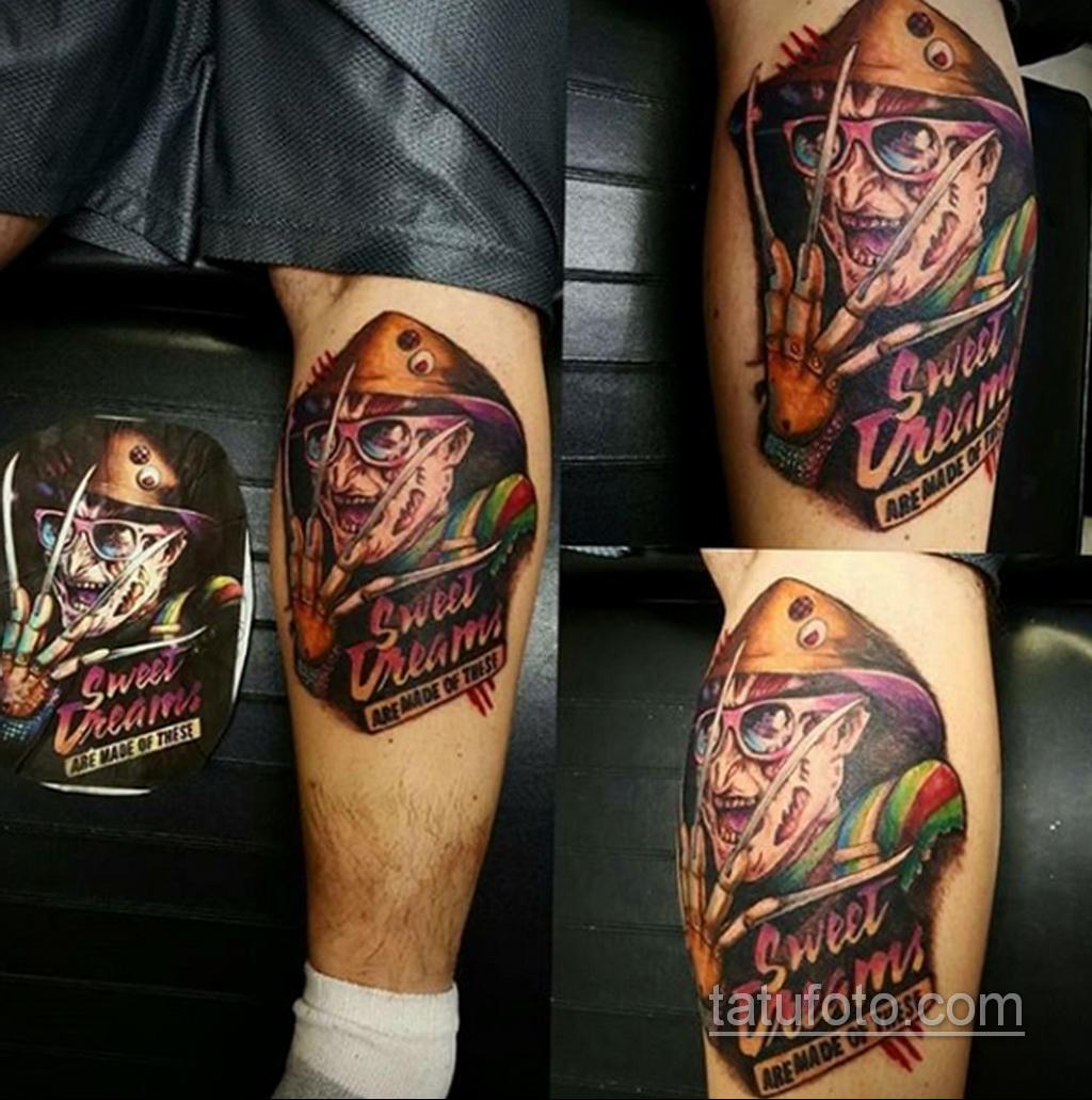 Фото тату с Фредди Крюгером 12.10.2020 №036 -freddy krueger tattoo- tatufoto.com