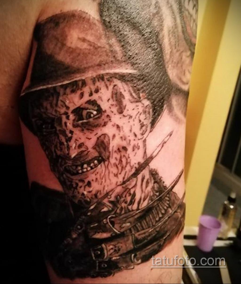 Фото тату с Фредди Крюгером 12.10.2020 №037 -freddy krueger tattoo- tatufoto.com