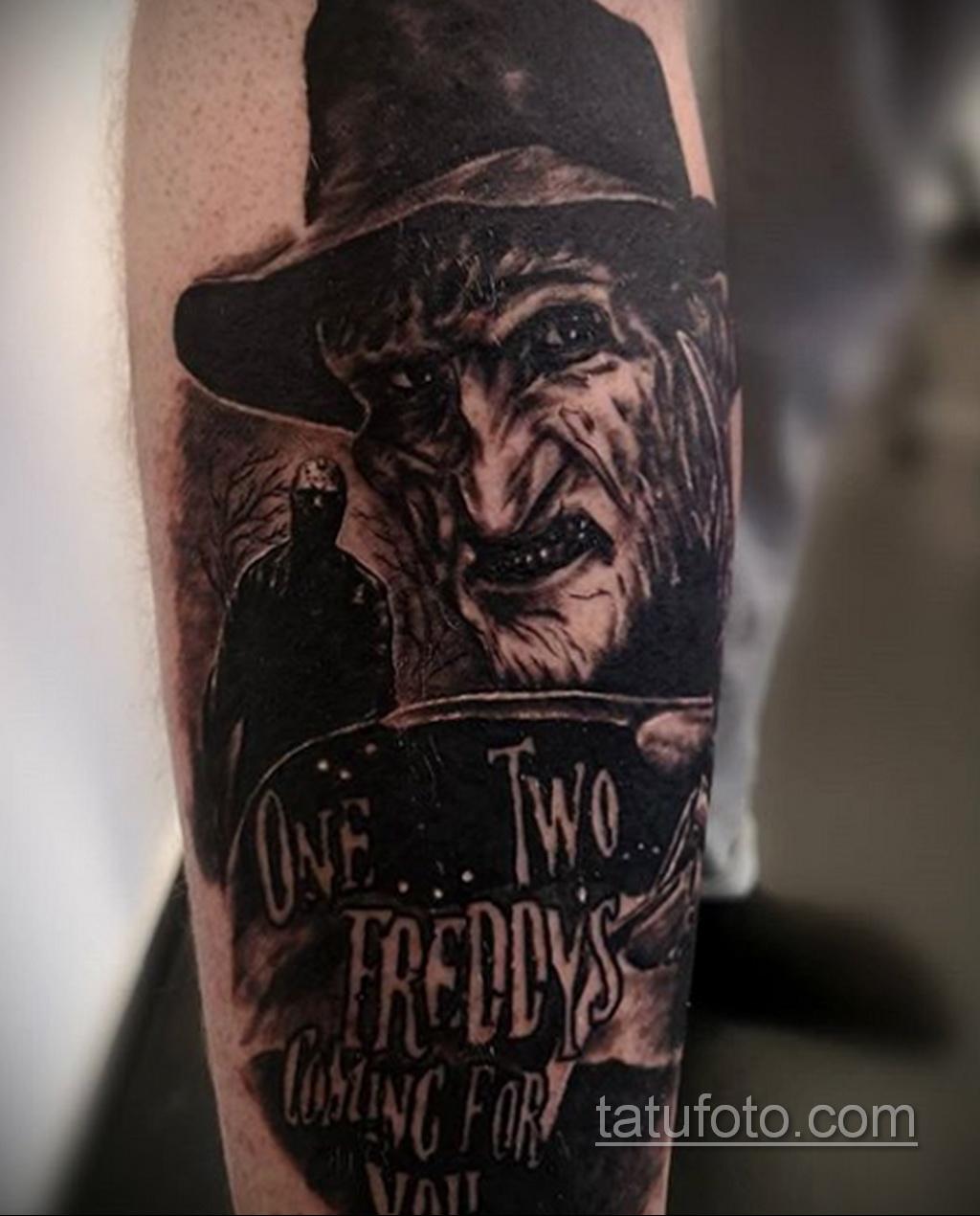 Фото тату с Фредди Крюгером 12.10.2020 №039 -freddy krueger tattoo- tatufoto.com