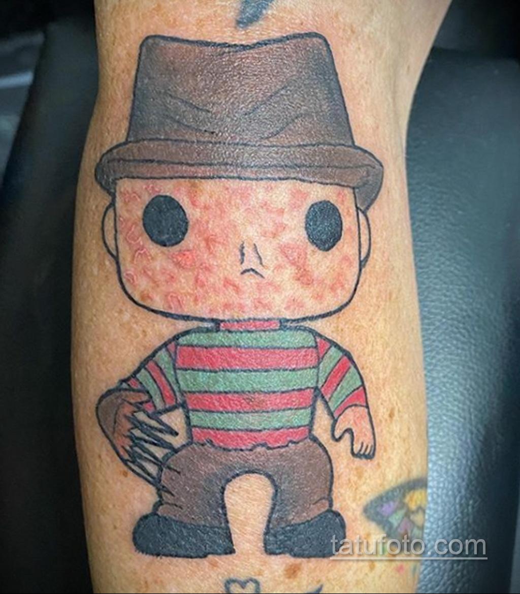 Фото тату с Фредди Крюгером 12.10.2020 №046 -freddy krueger tattoo- tatufoto.com