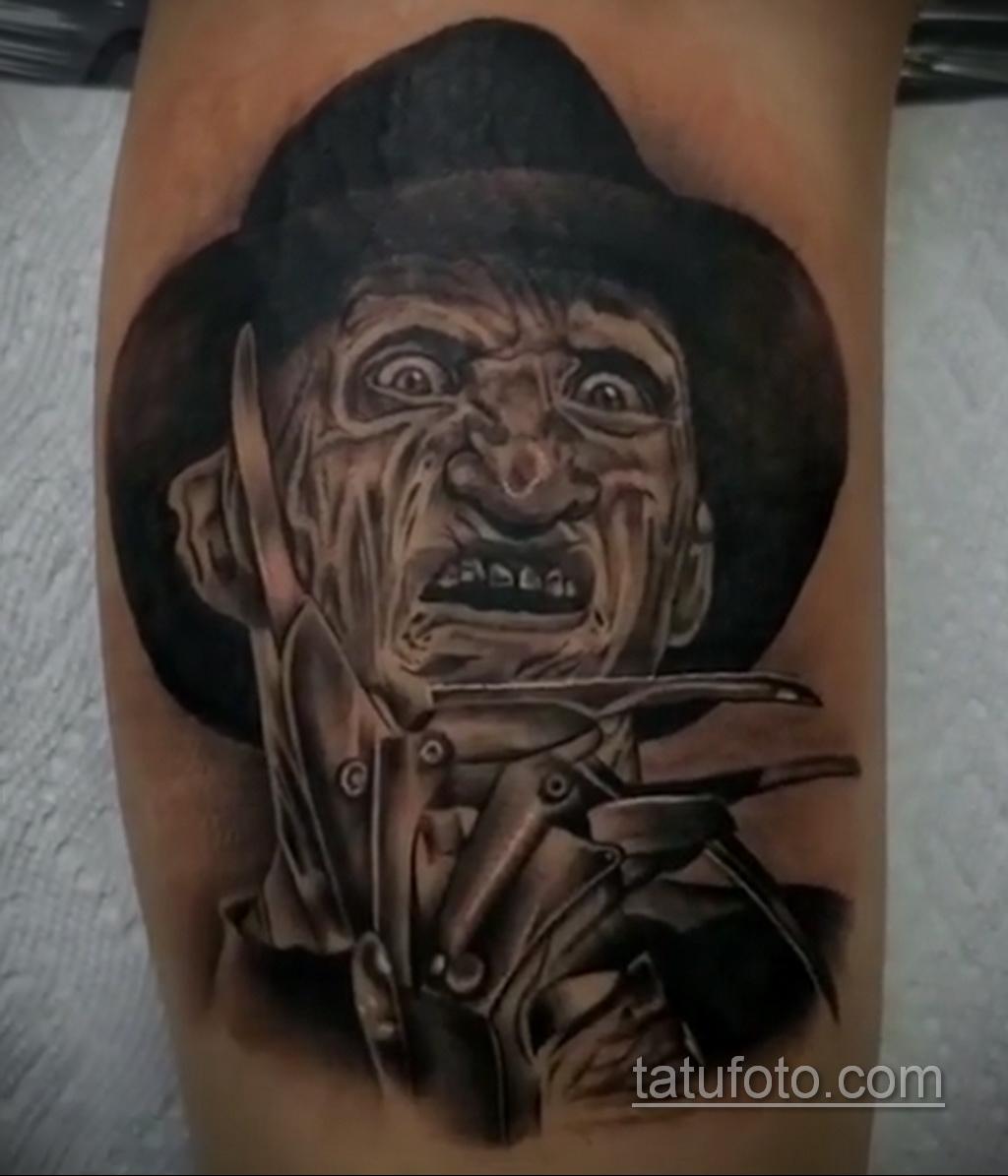 Фото тату с Фредди Крюгером 12.10.2020 №047 -freddy krueger tattoo- tatufoto.com