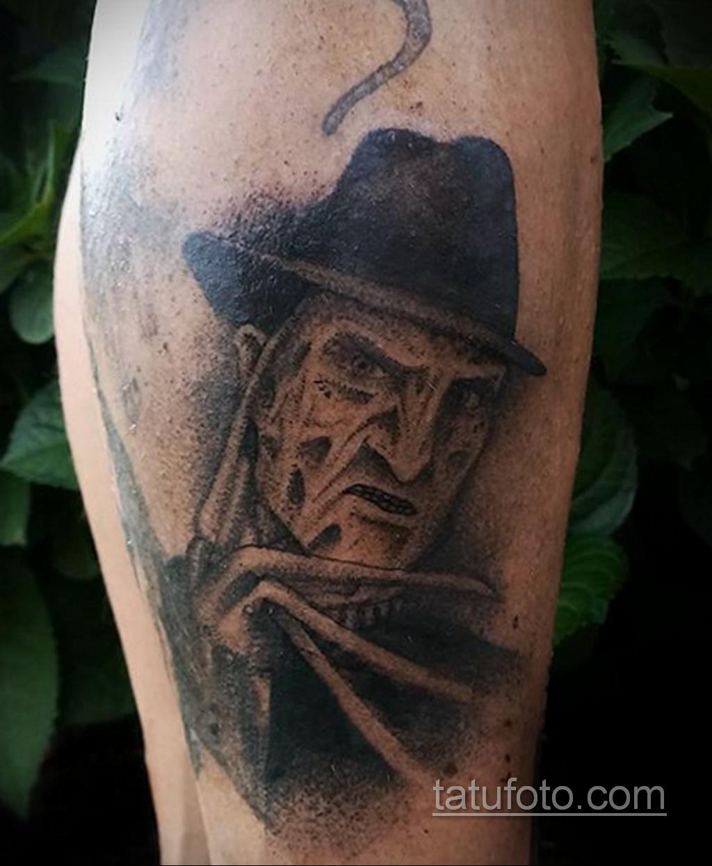 Фото тату с Фредди Крюгером 12.10.2020 №049 -freddy krueger tattoo- tatufoto.com