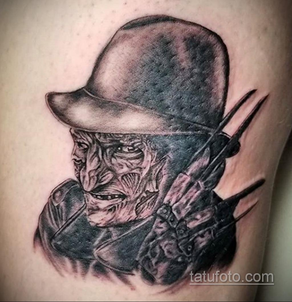 Фото тату с Фредди Крюгером 12.10.2020 №051 -freddy krueger tattoo- tatufoto.com