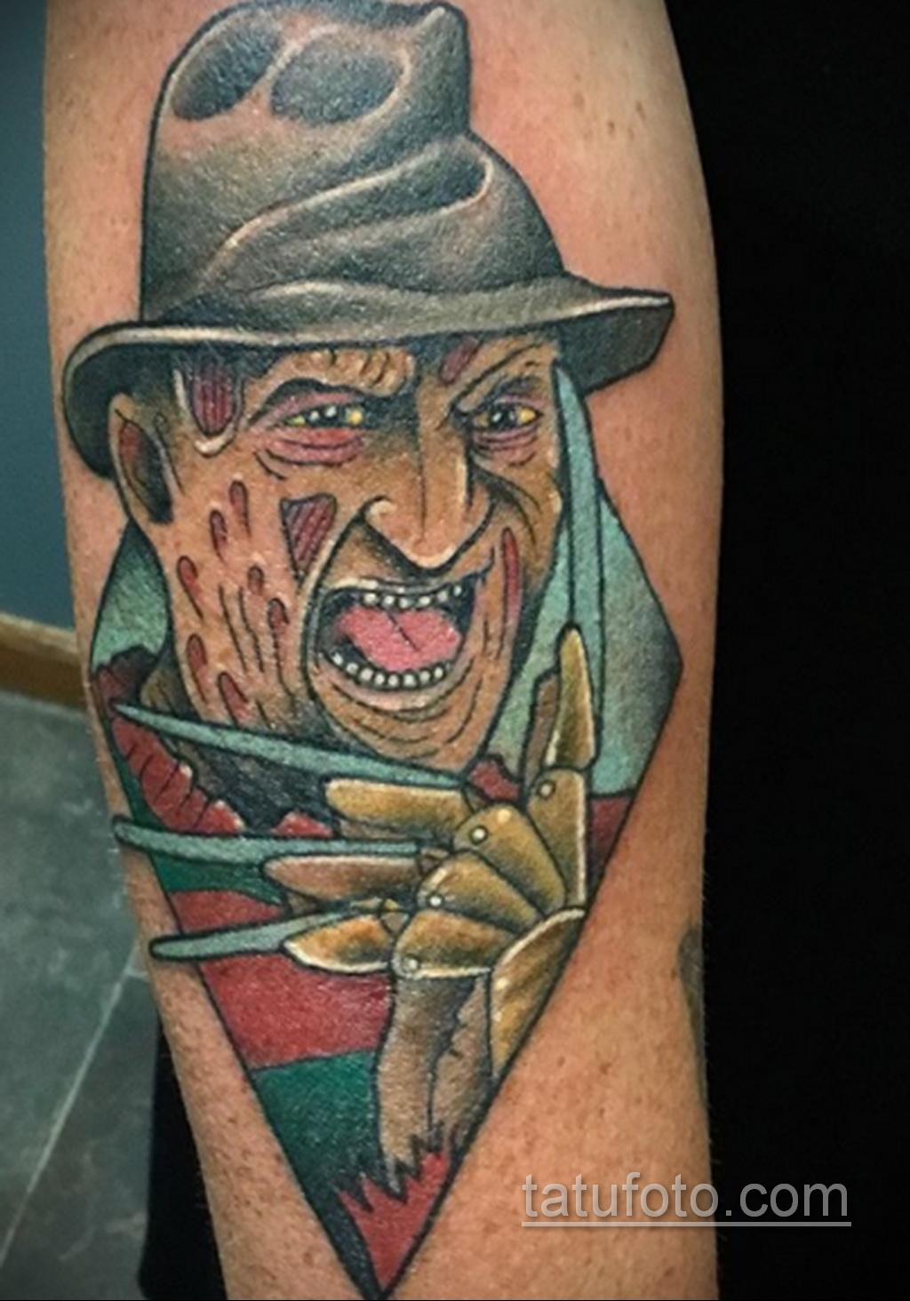 Фото тату с Фредди Крюгером 12.10.2020 №056 -freddy krueger tattoo- tatufoto.com