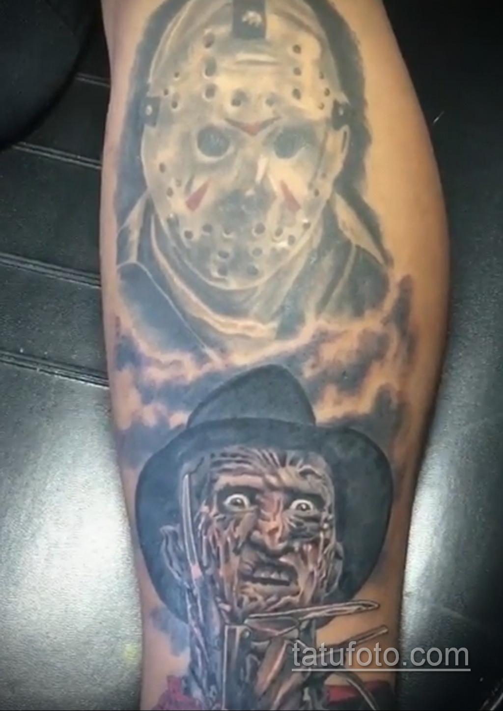 Фото тату с Фредди Крюгером 12.10.2020 №058 -freddy krueger tattoo- tatufoto.com