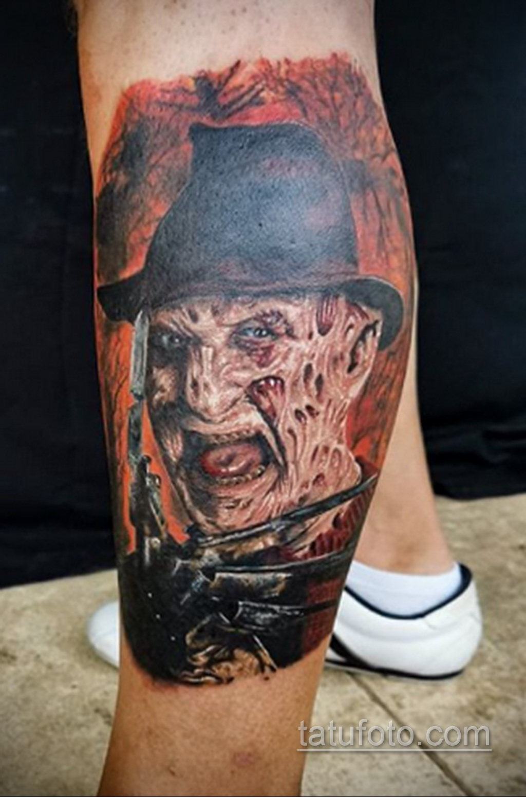 Фото тату с Фредди Крюгером 12.10.2020 №061 -freddy krueger tattoo- tatufoto.com