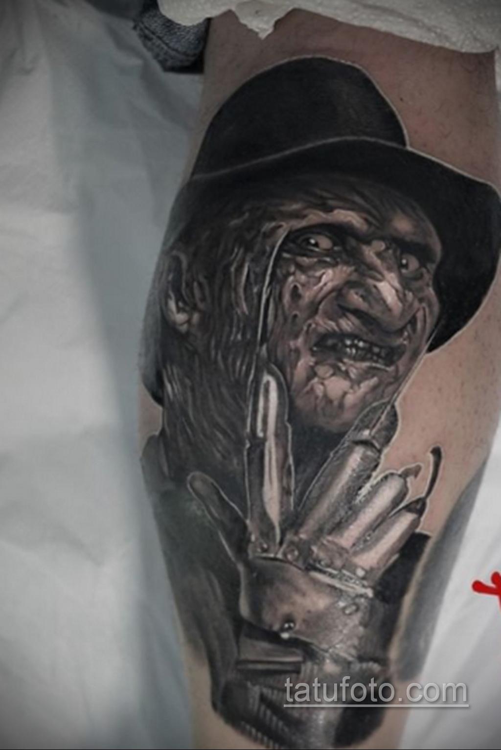 Фото тату с Фредди Крюгером 12.10.2020 №064 -freddy krueger tattoo- tatufoto.com