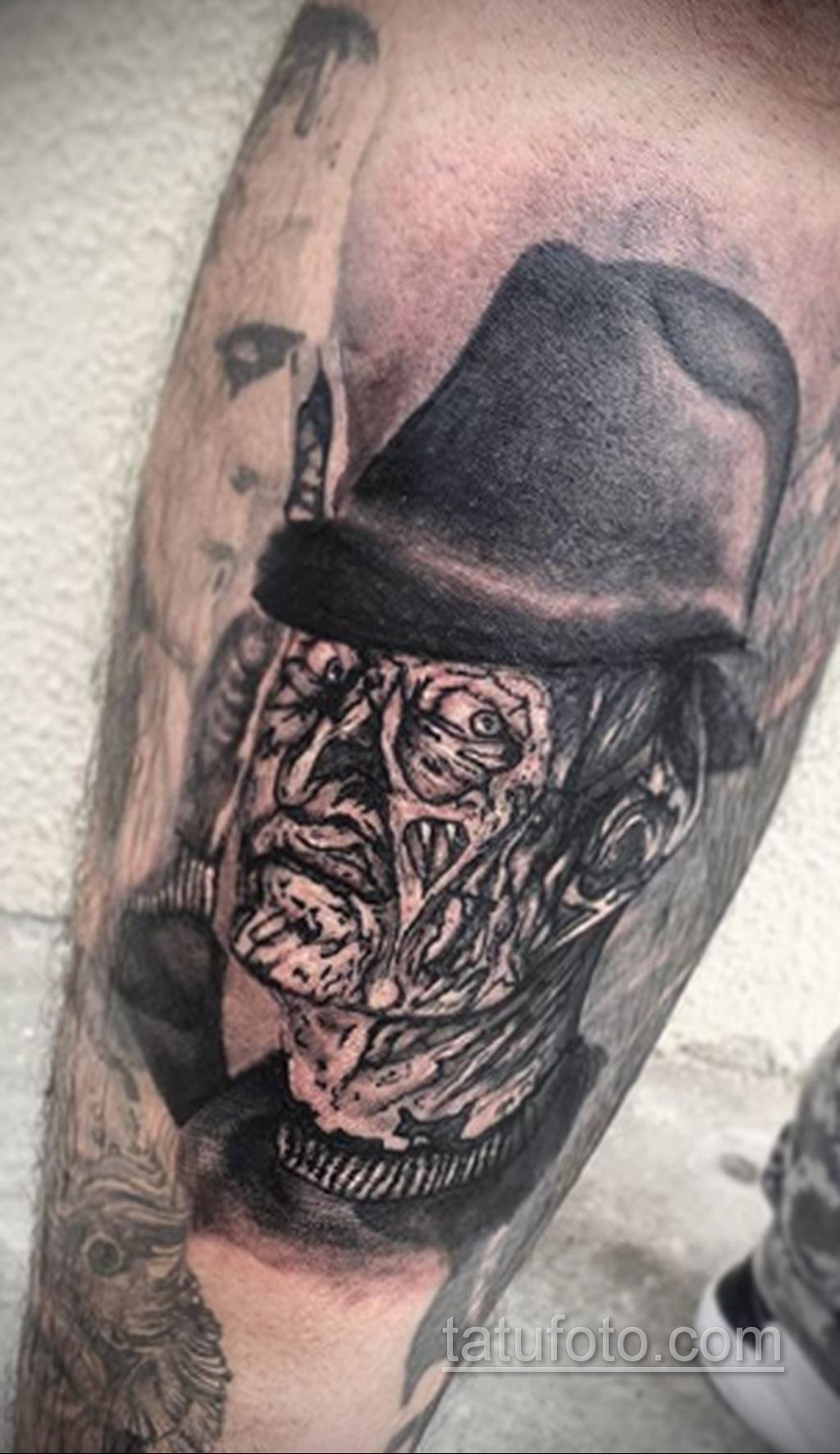Фото тату с Фредди Крюгером 12.10.2020 №065 -freddy krueger tattoo- tatufoto.com