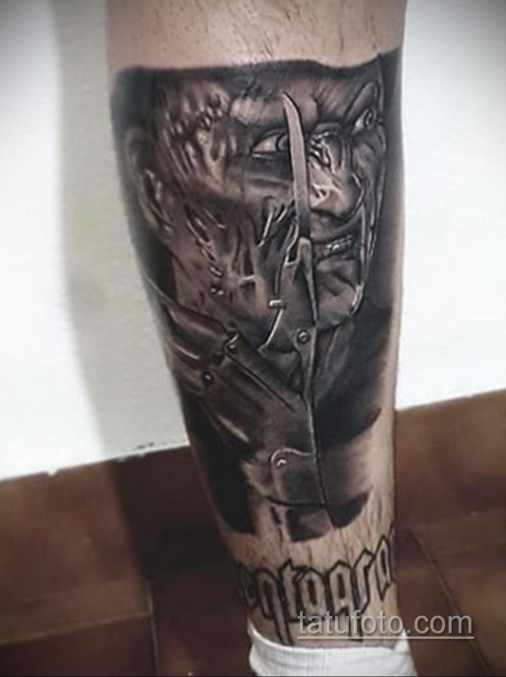 Фото тату с Фредди Крюгером 12.10.2020 №068 -freddy krueger tattoo- tatufoto.com