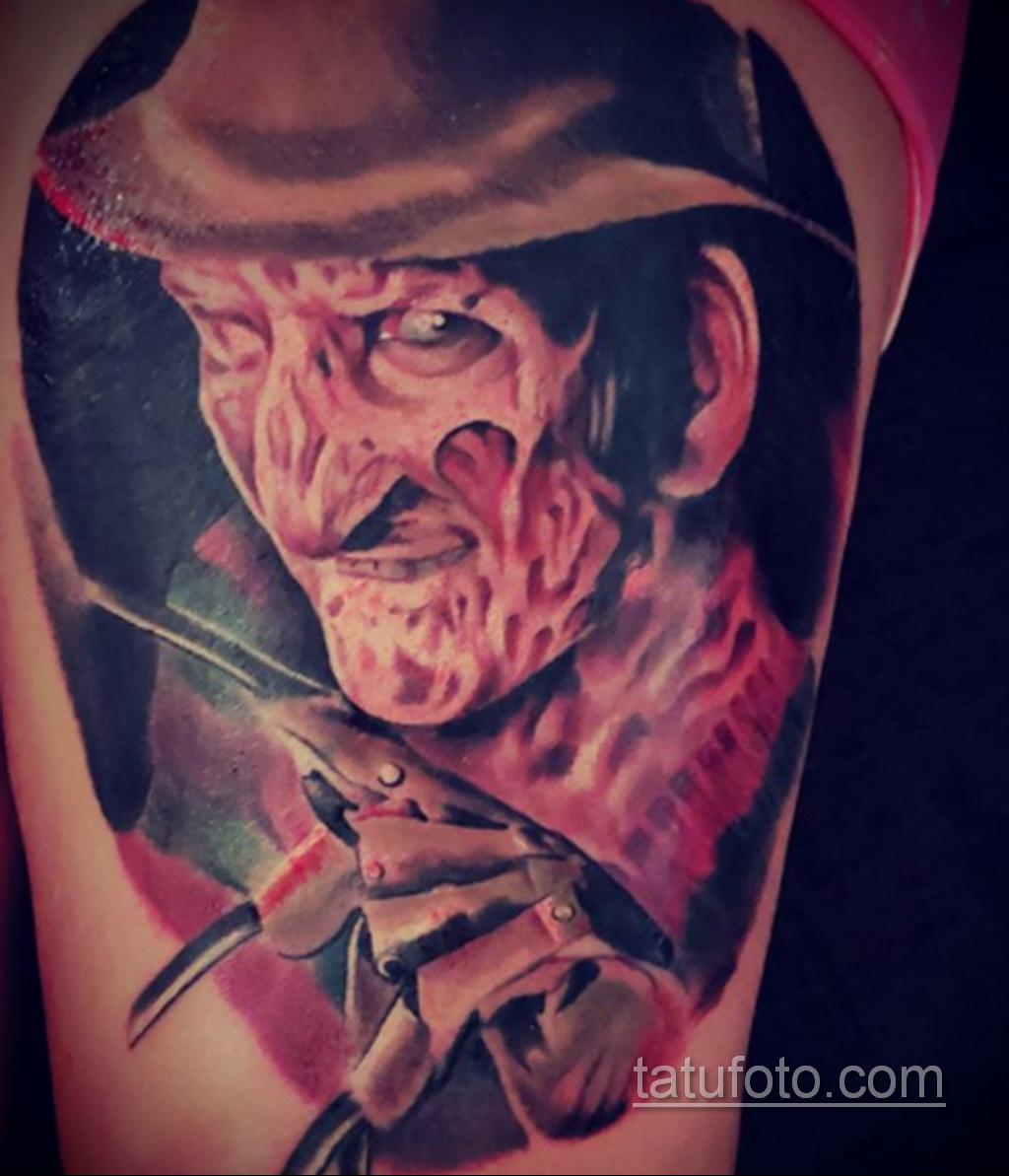 Фото тату с Фредди Крюгером 12.10.2020 №071 -freddy krueger tattoo- tatufoto.com