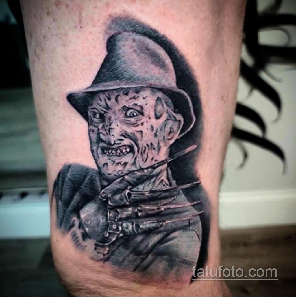 Фото тату с Фредди Крюгером 12.10.2020 №072 -freddy krueger tattoo- tatufoto.com