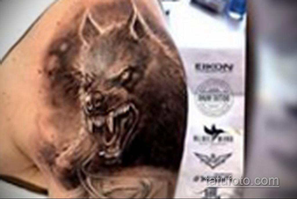 Фото тату с оборотнем 14.10.2020 №001 -werewolf tattoo- tatufoto.com