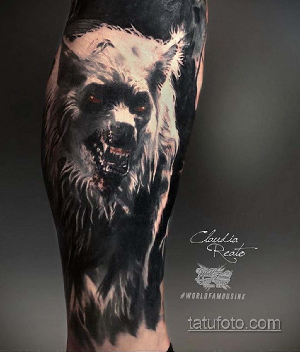 Фото тату с оборотнем 14.10.2020 №004 -werewolf tattoo- tatufoto.com