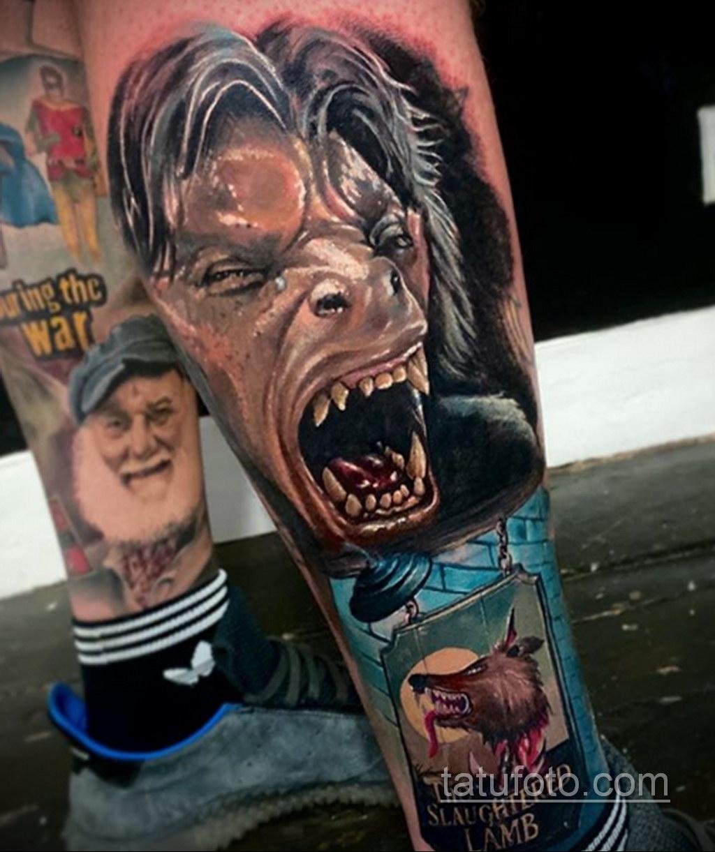 Фото тату с оборотнем 14.10.2020 №007 -werewolf tattoo- tatufoto.com