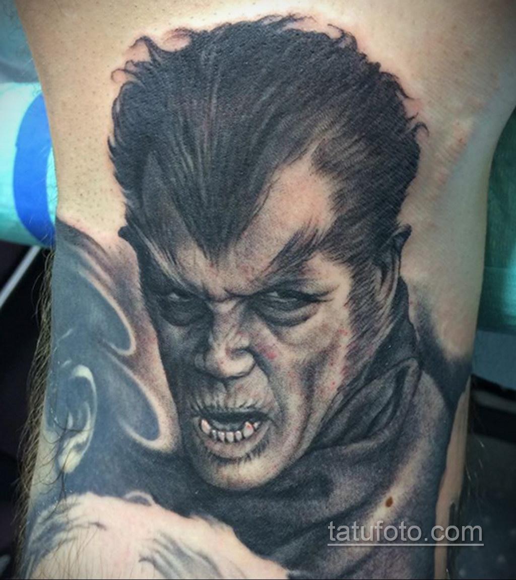 Фото тату с оборотнем 14.10.2020 №014 -werewolf tattoo- tatufoto.com