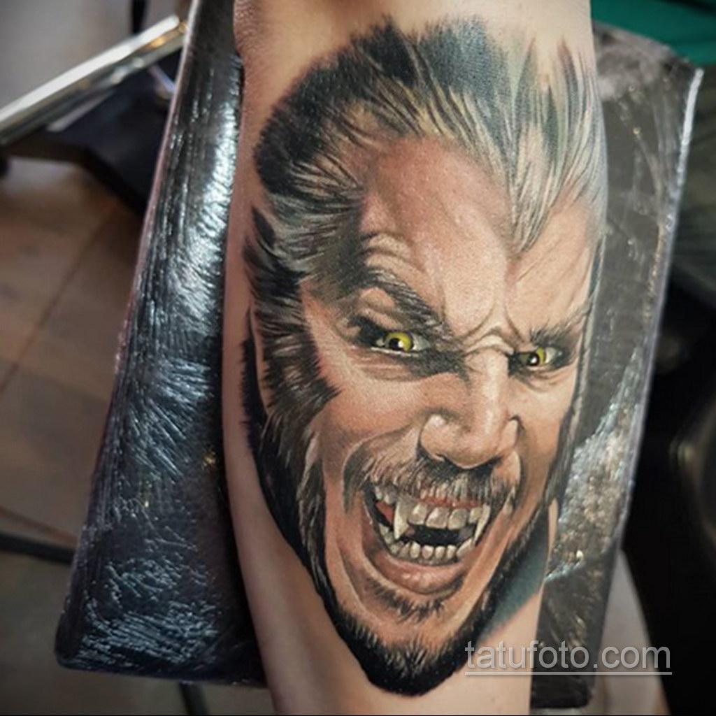 Фото тату с оборотнем 14.10.2020 №015 -werewolf tattoo- tatufoto.com