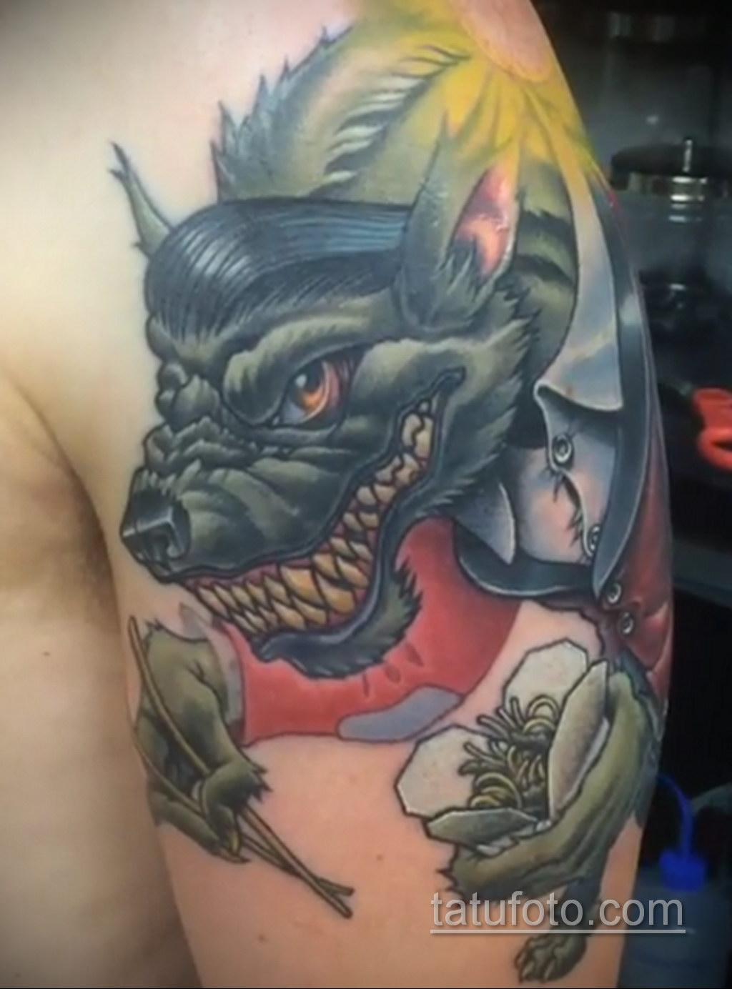 Фото тату с оборотнем 14.10.2020 №016 -werewolf tattoo- tatufoto.com