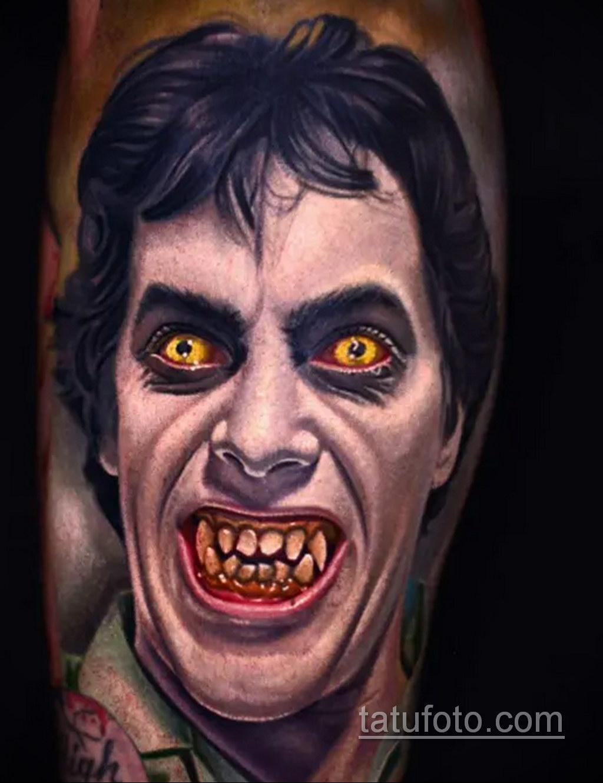 Фото тату с оборотнем 14.10.2020 №021 -werewolf tattoo- tatufoto.com