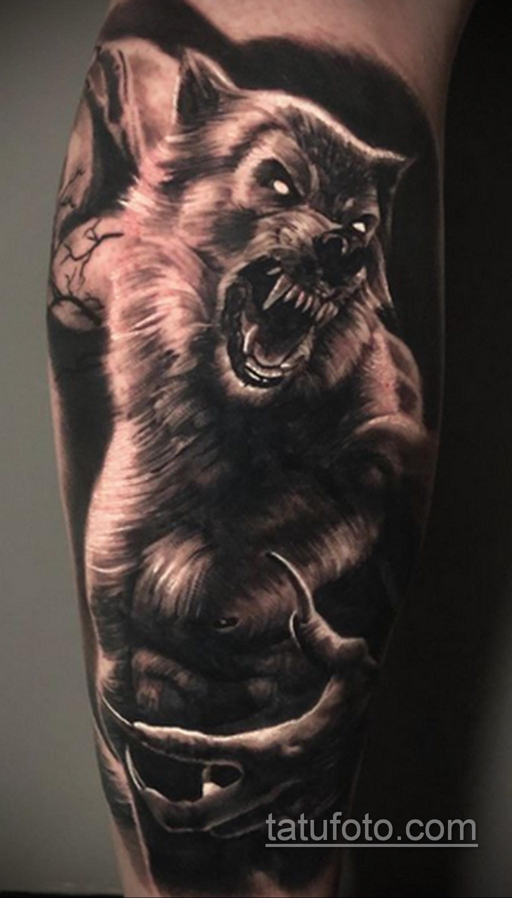Фото тату с оборотнем 14.10.2020 №037 -werewolf tattoo- tatufoto.com