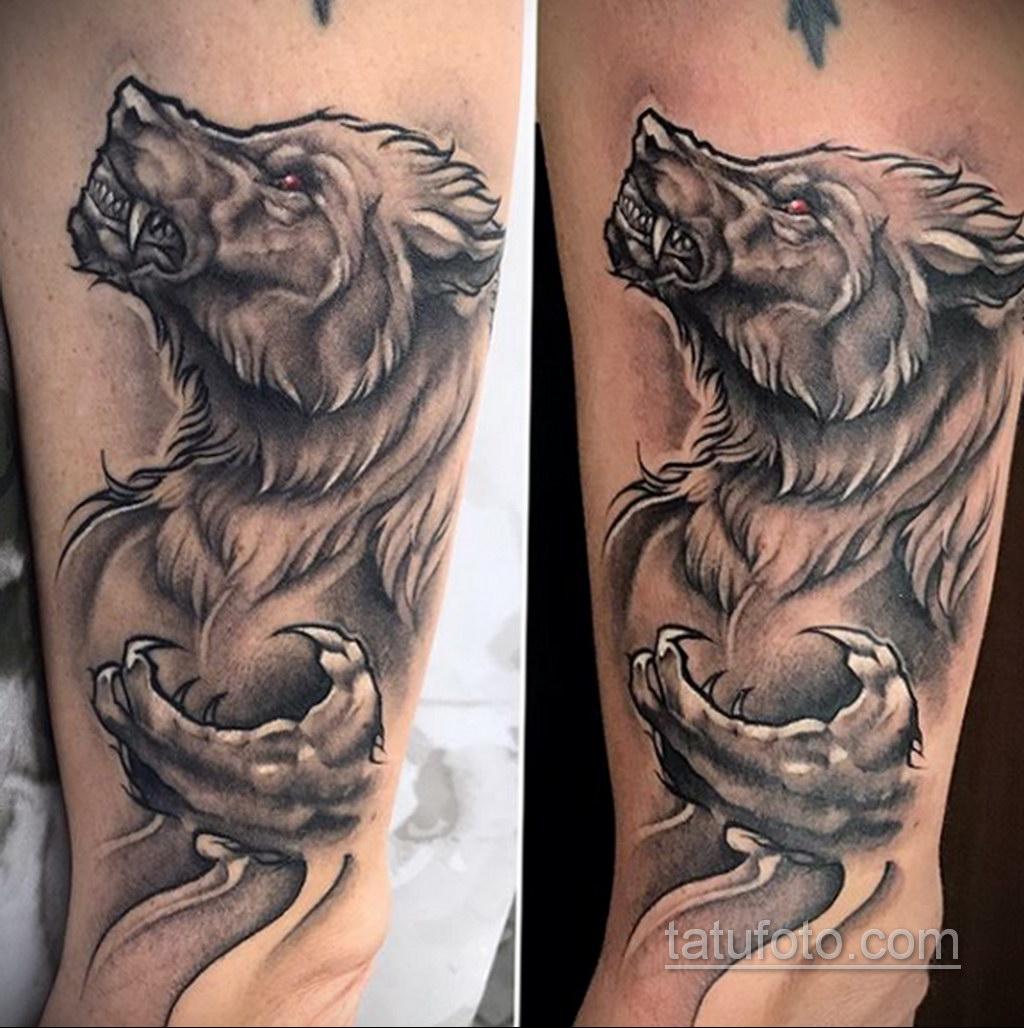 Фото тату с оборотнем 14.10.2020 №043 -werewolf tattoo- tatufoto.com