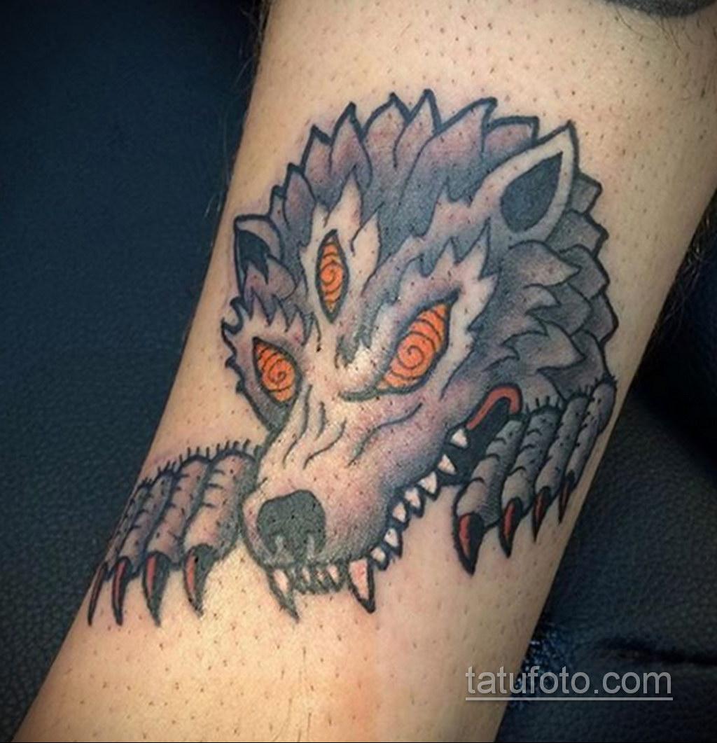 Фото тату с оборотнем 14.10.2020 №060 -werewolf tattoo- tatufoto.com