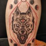 Фото тату с оборотнем 14.10.2020 №072 -werewolf tattoo- tatufoto.com