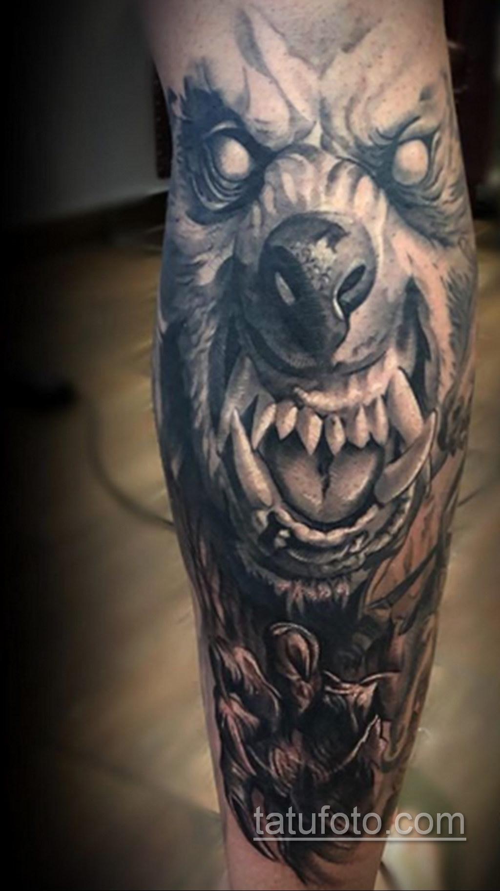 Фото тату с оборотнем 14.10.2020 №074 -werewolf tattoo- tatufoto.com