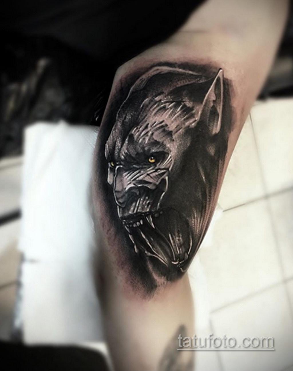Фото тату с оборотнем 14.10.2020 №075 -werewolf tattoo- tatufoto.com