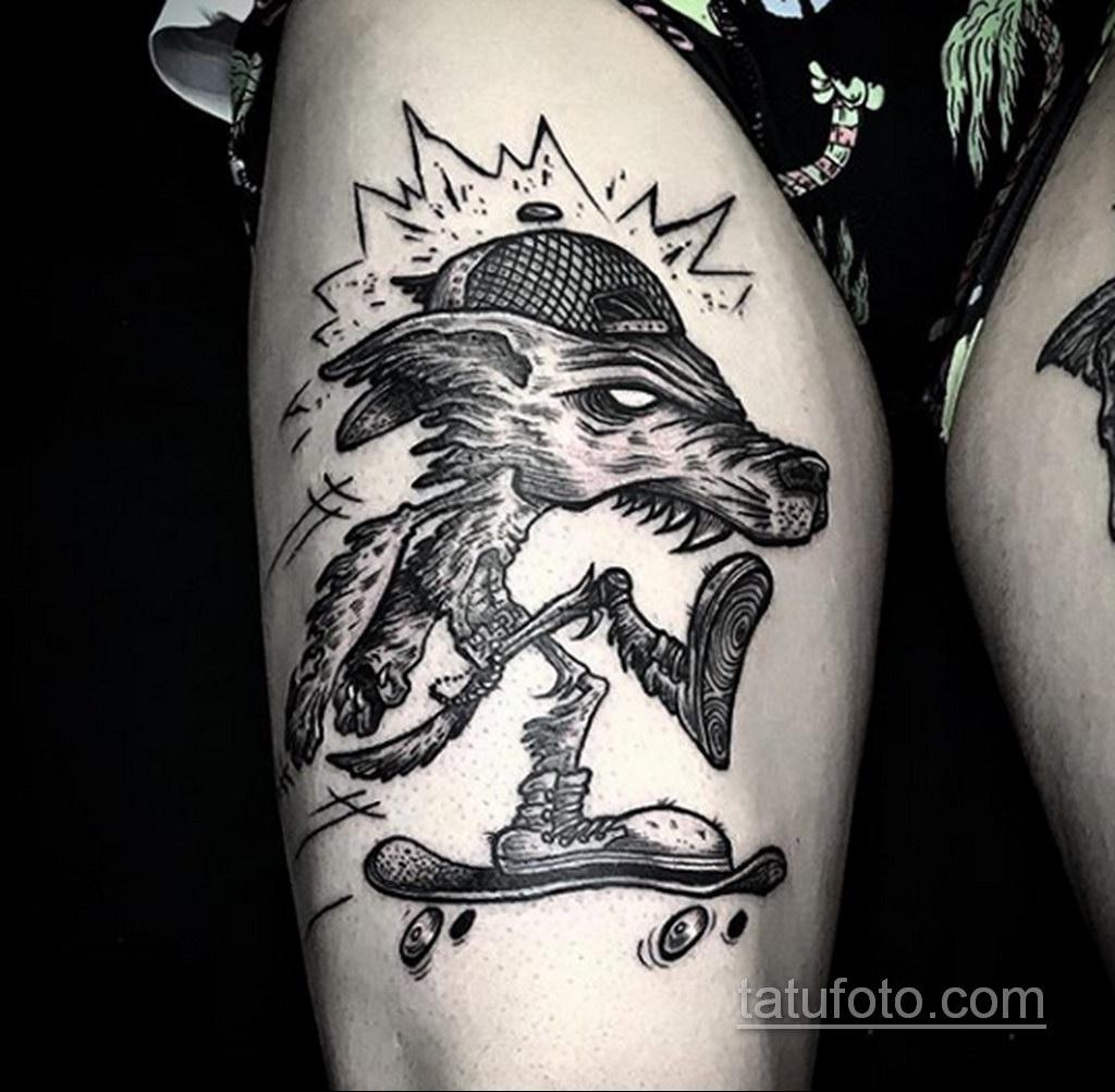 Фото тату с оборотнем 14.10.2020 №076 -werewolf tattoo- tatufoto.com