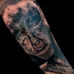 Фото тату с оборотнем 14.10.2020 №090 -werewolf tattoo- tatufoto.com
