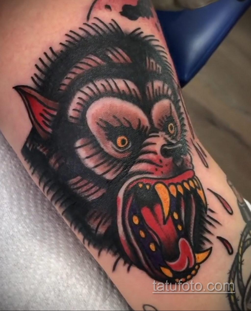 Фото тату с оборотнем 14.10.2020 №092 -werewolf tattoo- tatufoto.com