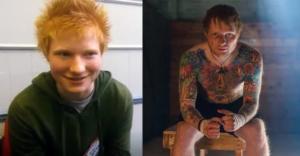 Эд Ширан – до и после нанесения татуировок - фото