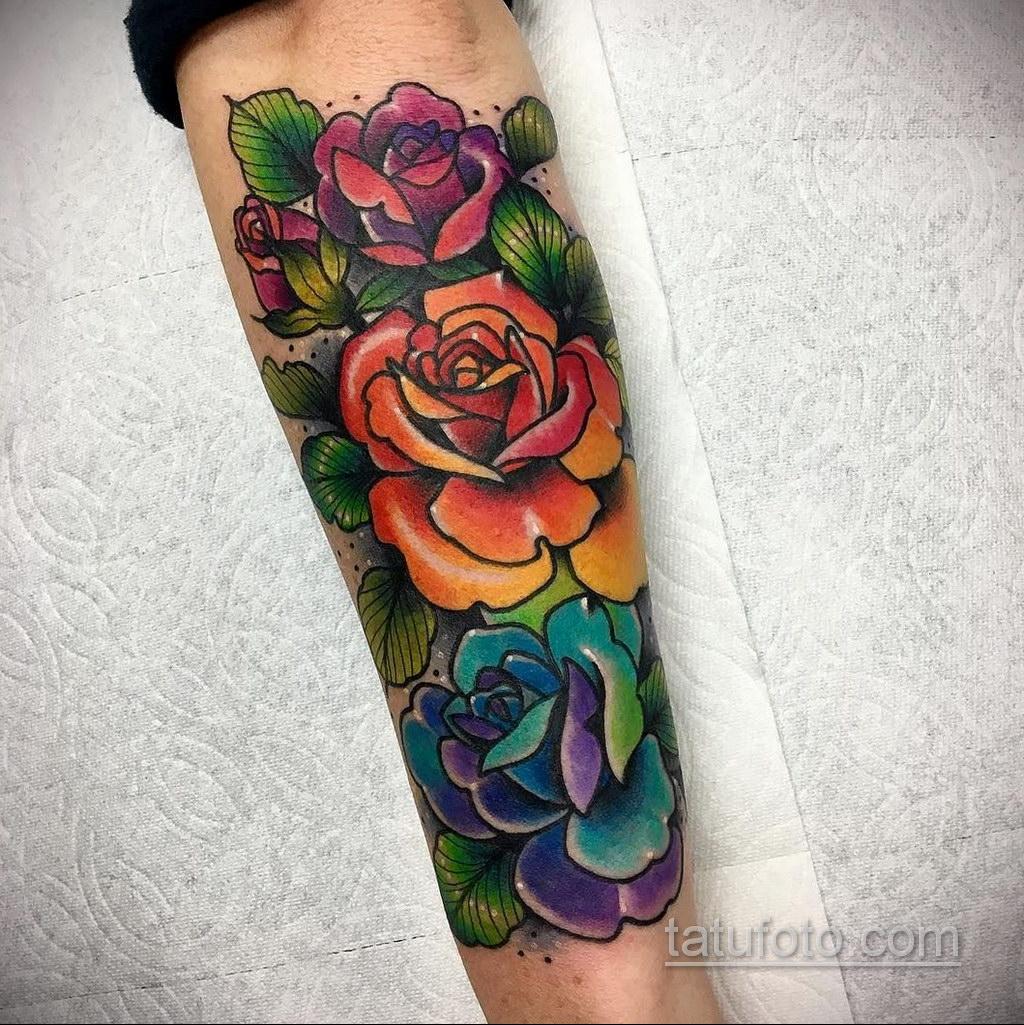 большая тату на предплечье 25.10.2020 №011 -forearm tattoo- tatufoto.com