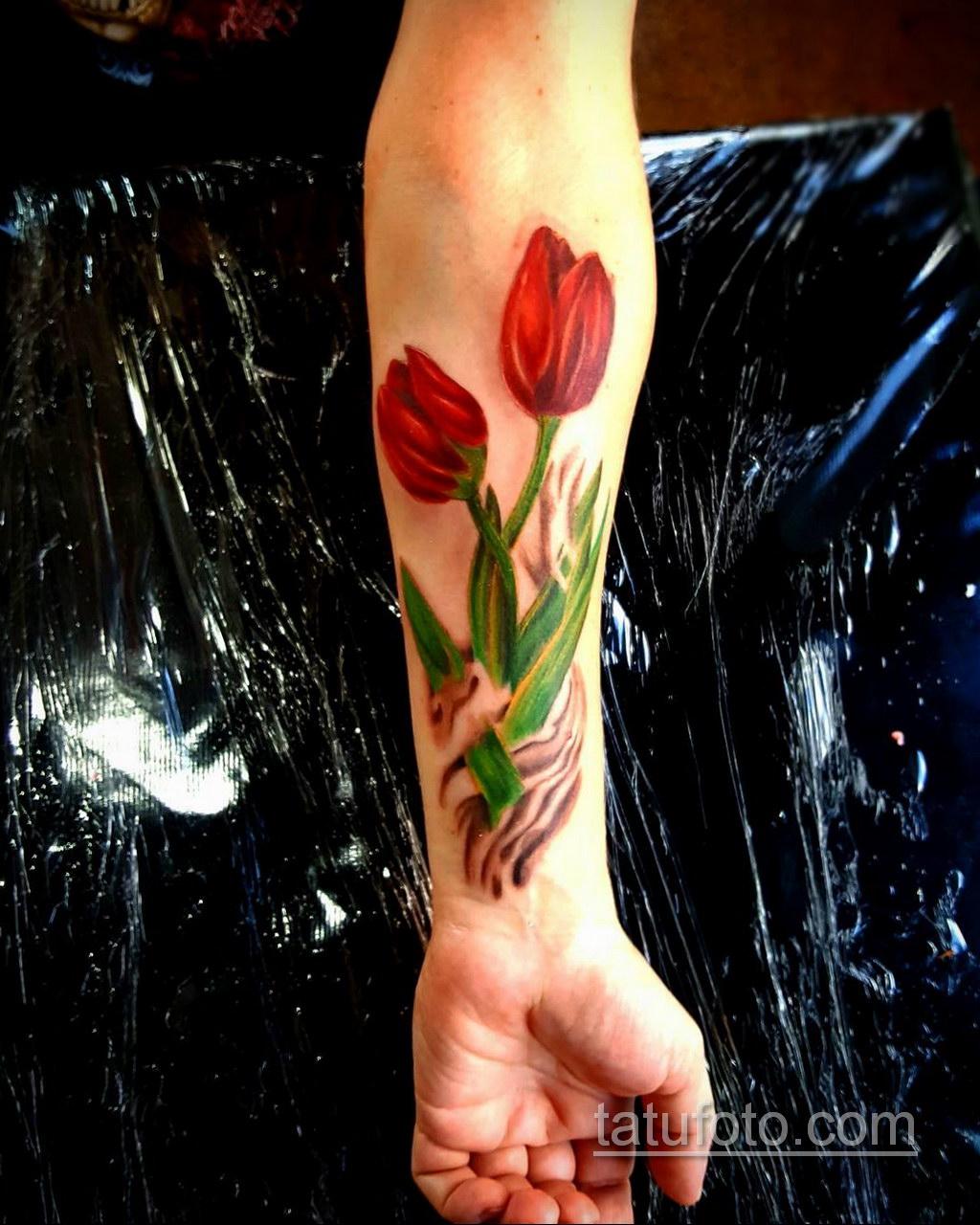 большая тату на предплечье 25.10.2020 №020 -forearm tattoo- tatufoto.com
