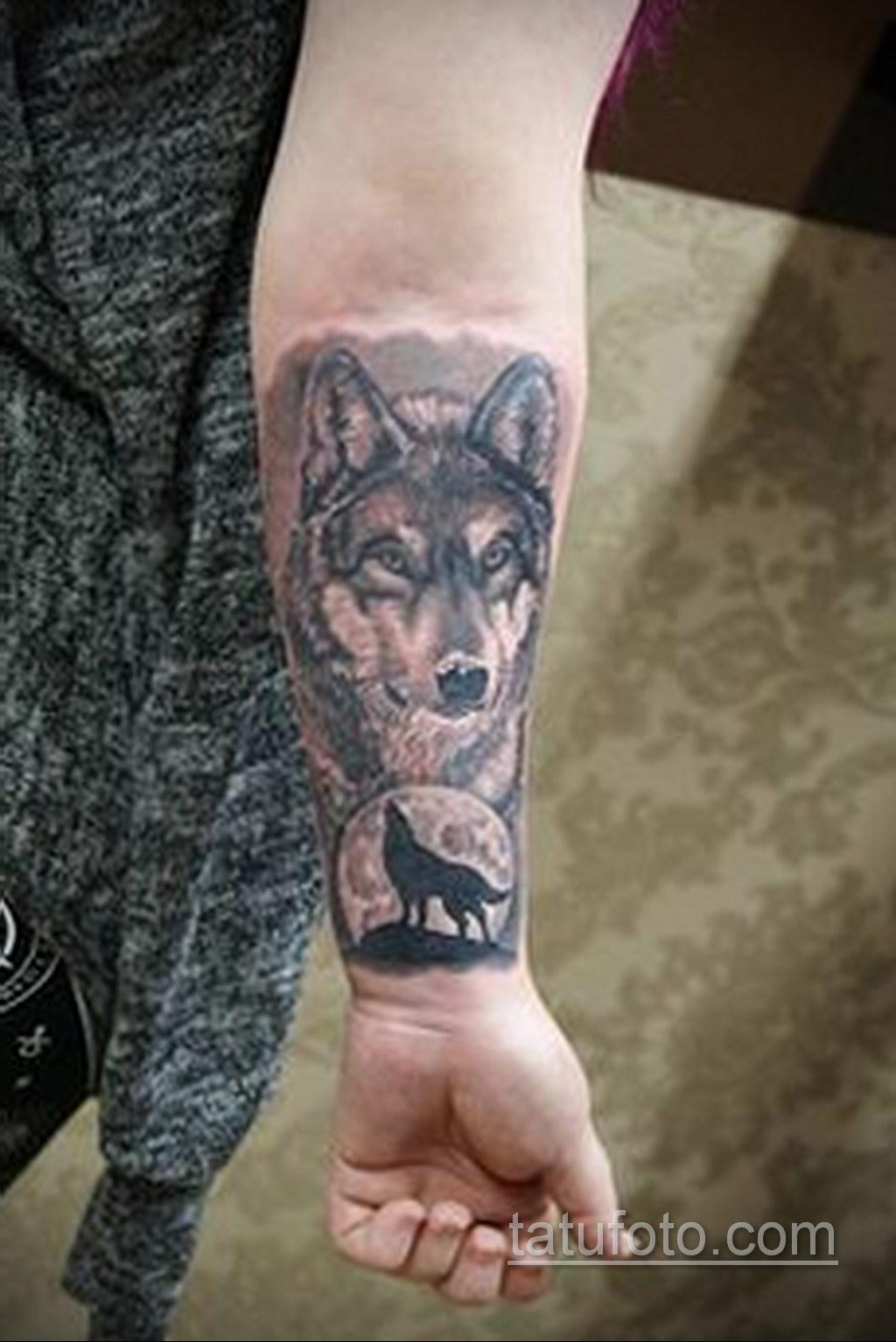 волк тату на предплечье 25.10.2020 №007 -forearm tattoo- tatufoto.com