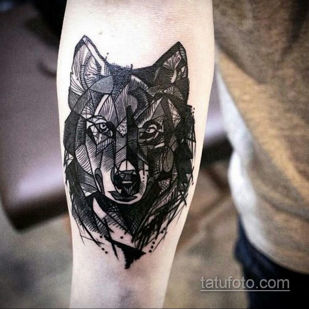 волк тату на предплечье 25.10.2020 №012 -forearm tattoo- tatufoto.com