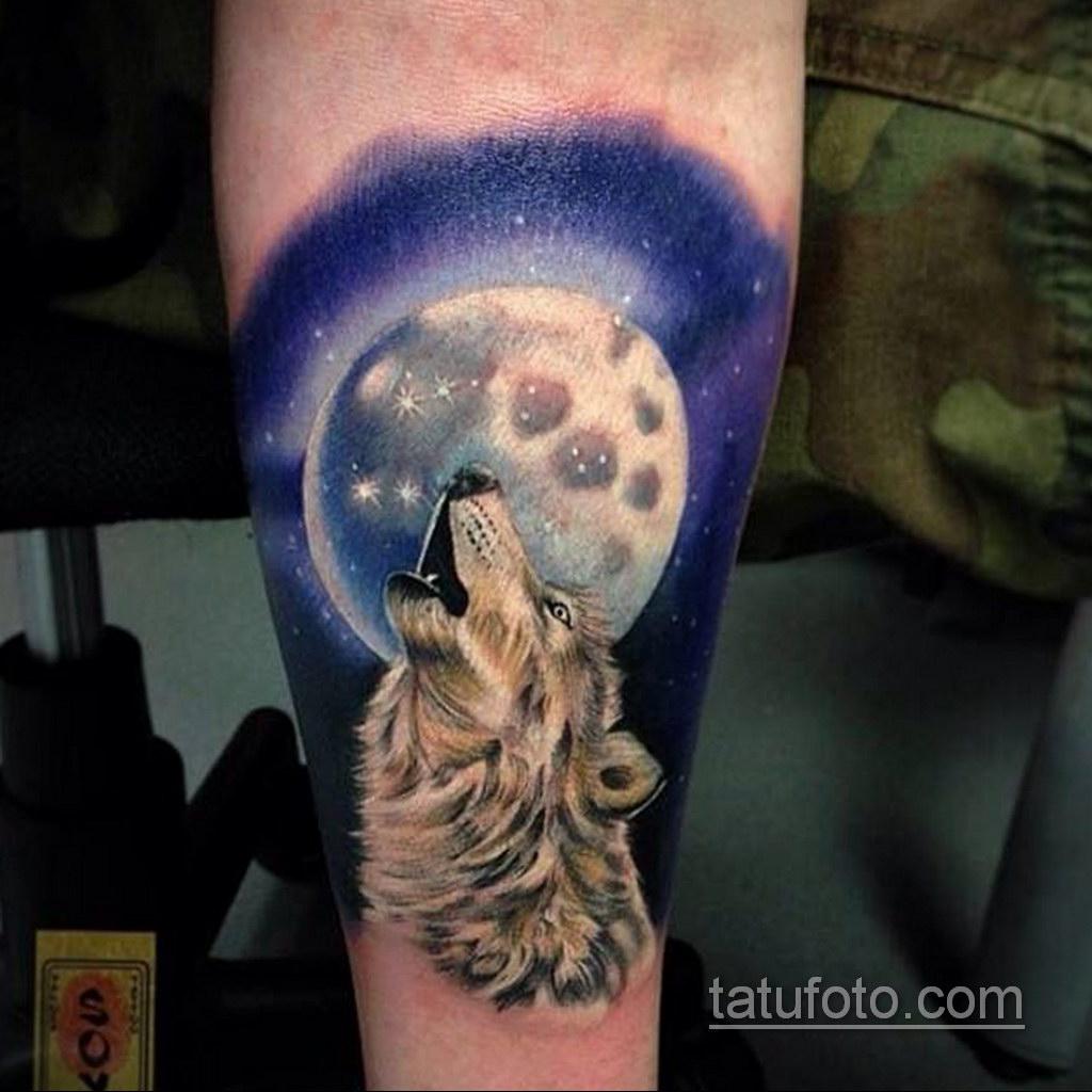 волк тату на предплечье 25.10.2020 №024 -forearm tattoo- tatufoto.com
