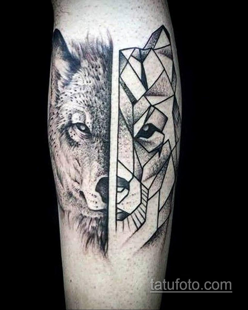 волк тату на предплечье 25.10.2020 №027 -forearm tattoo- tatufoto.com