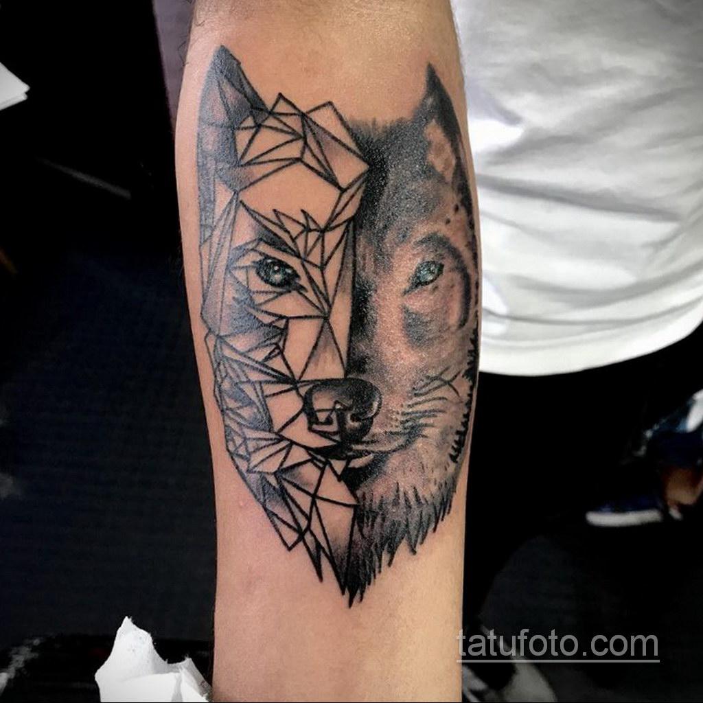 волк тату на предплечье 25.10.2020 №052 -forearm tattoo- tatufoto.com
