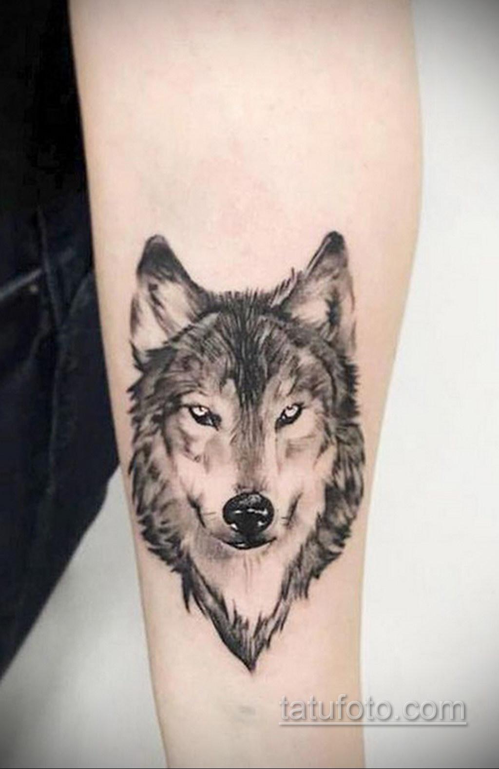 волк тату на предплечье 25.10.2020 №055 -forearm tattoo- tatufoto.com