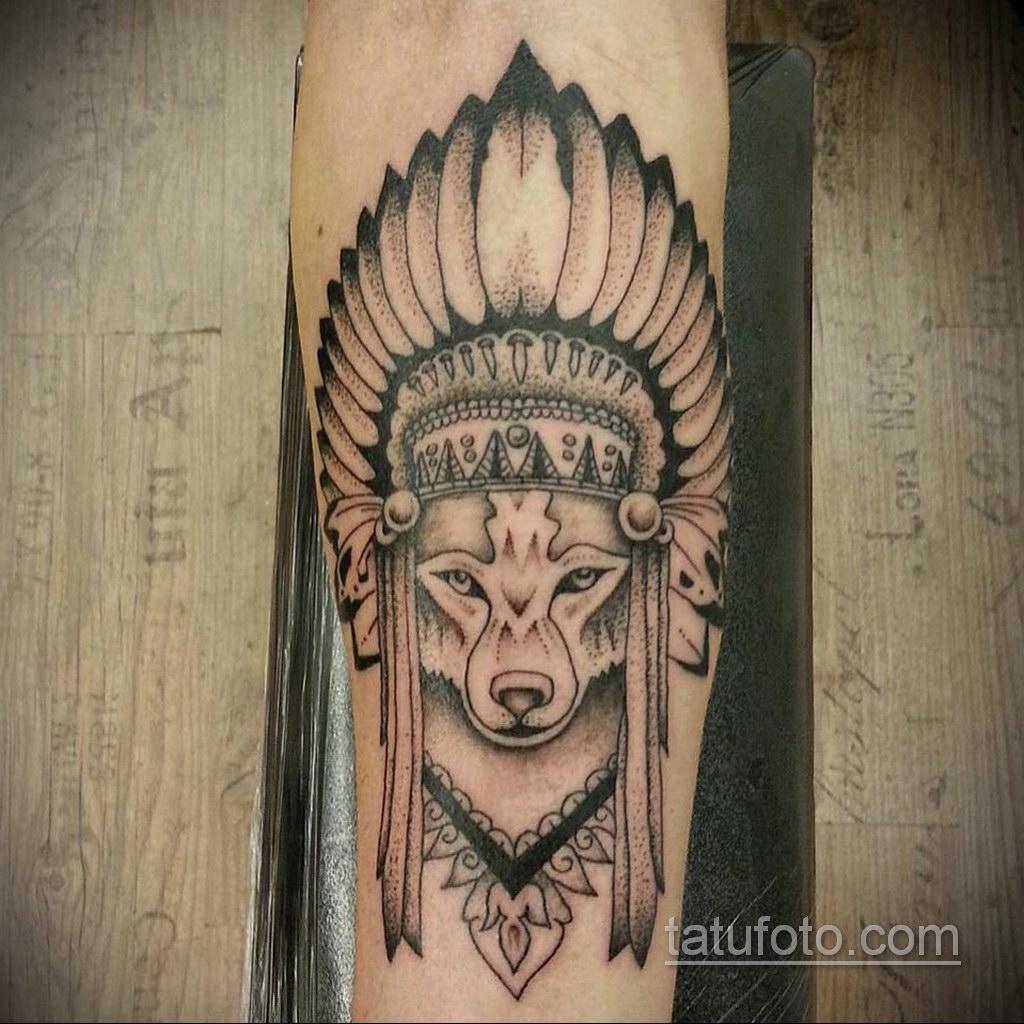 волк тату на предплечье 25.10.2020 №060 -forearm tattoo- tatufoto.com