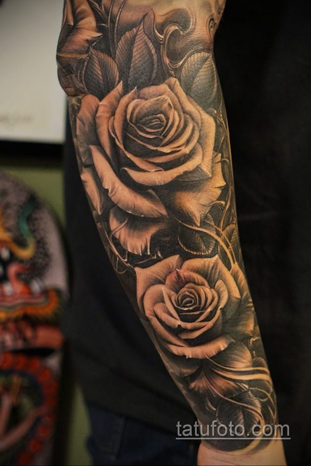 красивая тату на предплечье 25.10.2020 №001 -forearm tattoo- tatufoto.com