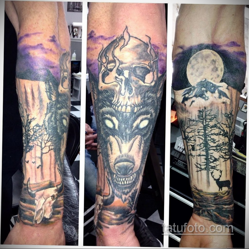 красивая тату на предплечье 25.10.2020 №016 -forearm tattoo- tatufoto.com