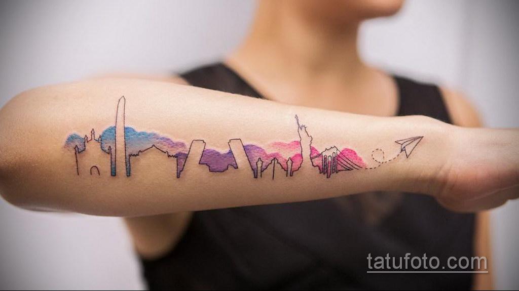 легкая тату на предплечье 25.10.2020 №005 -forearm tattoo- tatufoto.com