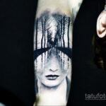 татуировка лес на предплечье 25.10.2020 №014 -forearm tattoo- tatufoto.com